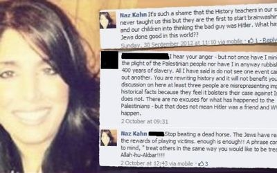 Some of Naz Khan's tweets.   Graphic: Campaign Against Antisemitism