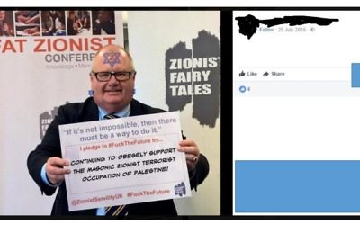 One of the anti-Semitic posts from the member in question, this time attacking Sir Eric Pickles