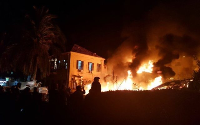 Emergency service Magen David Adom posted a picture of the scene of the fire, adding that two were pronounced dead when they arrived.