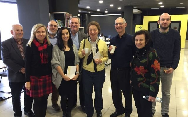 Golders Green Synagogue members along with World Jewish Relief staff visit the Edison Space co-working hub in Zaporizhia which was established by World Jewish Relief