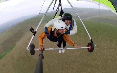 Sarah Barnett took to the skies for Camp Simcha