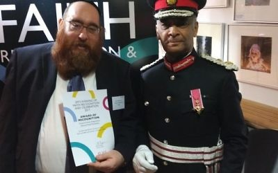 Shmuel Yosef Davidsohn and Lord Lieutenant of London Kenneth Olisa