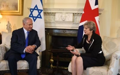 Theresa May with Israeli prime minister Benjamin Netanyahu in Downing Street.