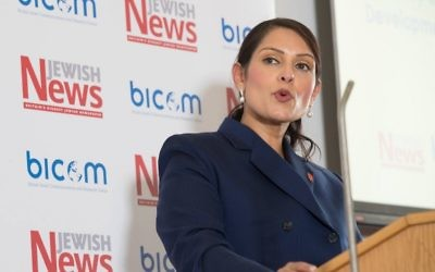 Priti Patel speaking at the Jewish News-BICOM policy conference.    Photo credit: Marc Morris Photography