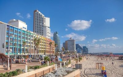 Tel Aviv's famous sea-front promenade