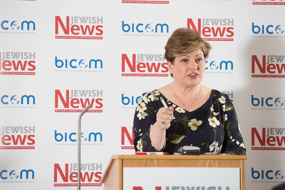 Labour MP Emily Thornberry, Shadow Secretary of State for Foreign Affairs, address the Balfour100 conference Photo credit: Marc Morris Photography