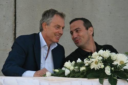 Zvi Schreiber with Tony Blair