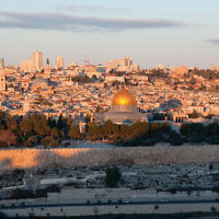 Old City of Jerusalem's iconic skyline