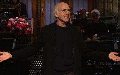 Larry David  (Screenshot from Youtube - Saturday Night Live)
