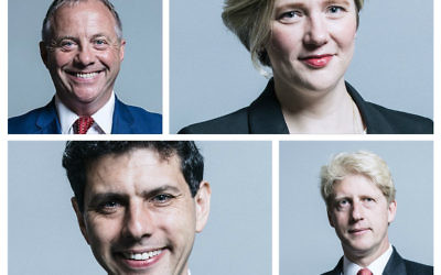 Top: John Mann and Stella Creasy. Bottom: Alex Sobel and Jo Johnson.