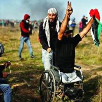 Wheelchair bound amputee Ibrahim Abu Thurayya,was killed during a protest