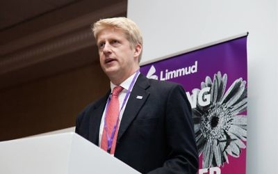 Jo Johnson addressing Limmud 2017 in Birmingham   Credit: Eli Gaventa