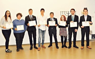 Some of our winners in Eighteen Under 18 at Jewish News-Jewish Leadership Council Thirty Under 30 and Eighteen Under 18 reception at JW3   Credit: Marc Morris Photography