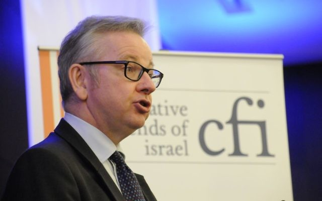 Michael Gove addressing the annual CFI lunch