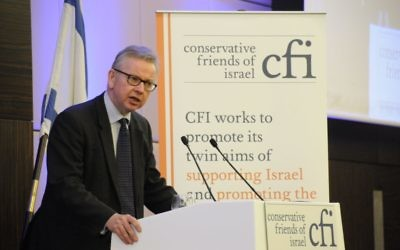 Michael Gove addressing the annual CFI lunch  (Credit: John Rifkin)