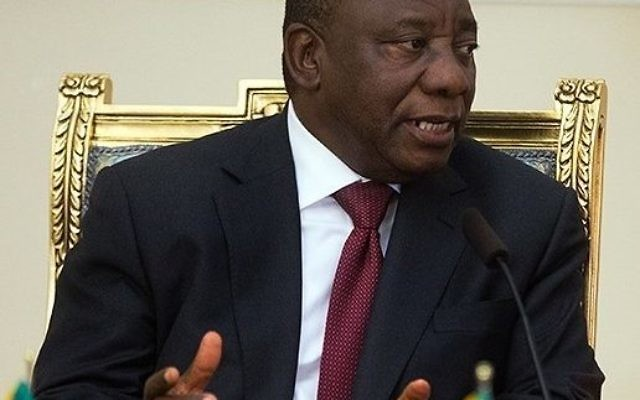 Cyril Ramaphosa, President of the African National Congress