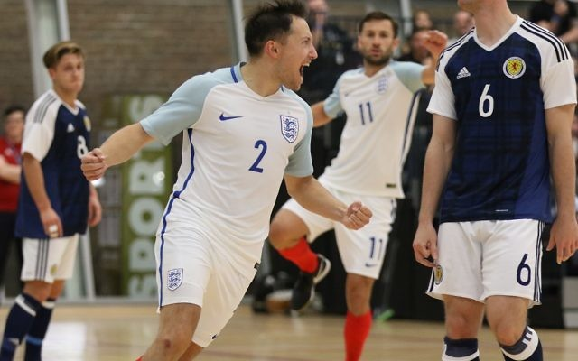 Russell Goldstein scored as England's futsal team won their first competition
