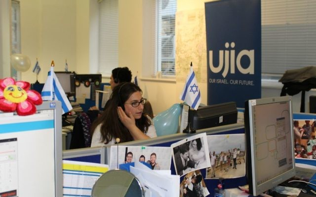 A volunteer at UJIA's telethon