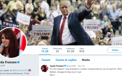 Jayda Francen's Twitter account is now adorned with a picture of President Donald Trump