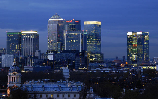 London's financial hub of Canary Wharf sees a lot of international banking and trade