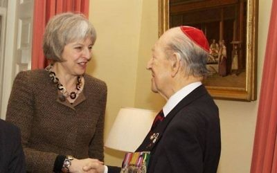 Mordaunt Cohen pictured with Prime Minister Theresa May