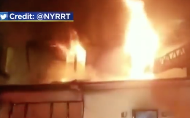 Three children and their mother were killed in a house fire in Brooklyn. (Screenshot from N.Y. Rescue Response Team via JTA )