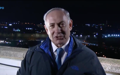 Israeli prime minister Benjamin Netanyahu delivering his Christmas message