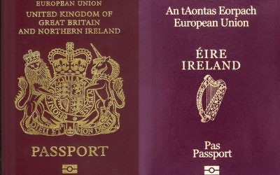 A UK and Irish passport