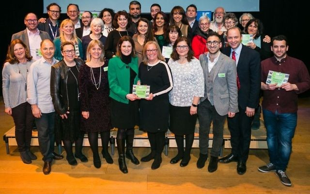 Winners of the Mitzvah Day Awards at JW3  Photo by Yakir Zu