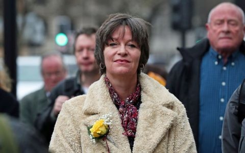Blogger Alison Chabloz arriving at Westminster Magistrates' Court, London, January 2018.  Credit: Jonathan Brady/PA Wire