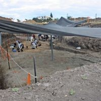 .The excavation at Jaljulia. Photographs: Samuel Magal, Courtesy of the Israel Antiquities Authority