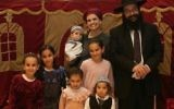 Rabbi Raziel Shevach, right, shown with his family, was killed in a shooting near Nablus in the northern West Bank. (Facebook via JTA)