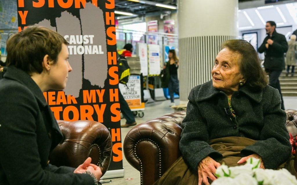 Holocaust Survivor Lily Ebert telling her story at Liverpool St station