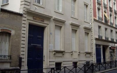 The synagogue, 24 Copernic Street, Paris