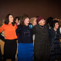 Women at the inaugural Neshama festival, held by the Chief Rabbi  Credit: Blake Ezra