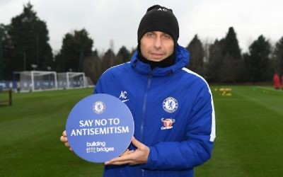 Chelsea manager Antonio Conte has put his support behind the club's initiative to tackle anti-Semitism
