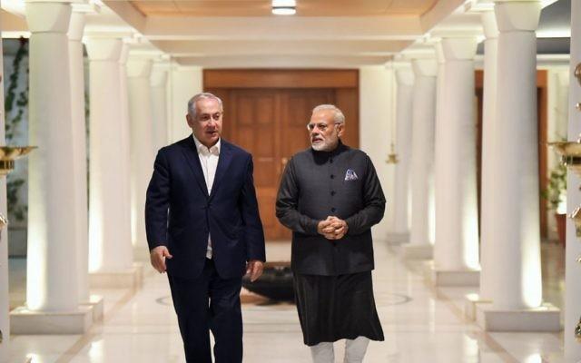 Benjamin Netanyahu in India with PM  Narendra Modi