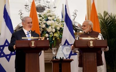 Benjamin Netanyahu and Indian counterpart Narendra Modi