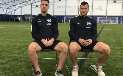 Tomer Hemed and Beram Kayal on the training ground
