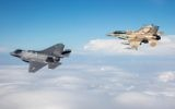 F-35I Adir accompanied by a Negev Squadron F-16I Sufa)