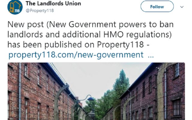 The initial tweet sent by the Landlord's Union