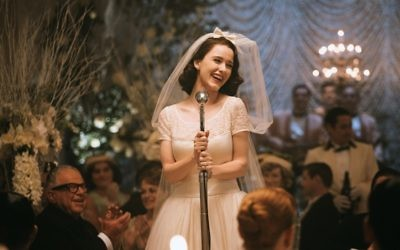 "Rachel Brosnahan as Miriam ""Midge"" Maisel in The Marvelous Mrs. Maisel, which has been renewed for a third season"