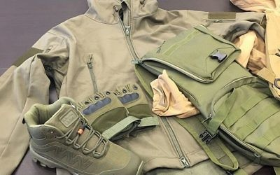 Military gear being smuggled to Gaza, seized at Ashdod port   (Israel Tax Authority/Ashdod customs via Times of Israel)