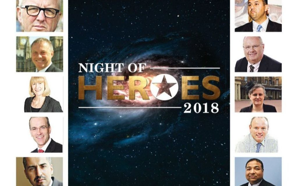 The shortlisted 10 community allies you can chose from: Left column: Ian Austin, John Mann, Joan Ryan, Patrick Moriarty, Maajid Nawaz. Right column: Fiyaz Mughal, Sir Eric Pickles, Dr Nicola Wetherall, Mike Freer, Dilwar Hussein. VOTE HERE: Nightofheroes.co.uk/vote