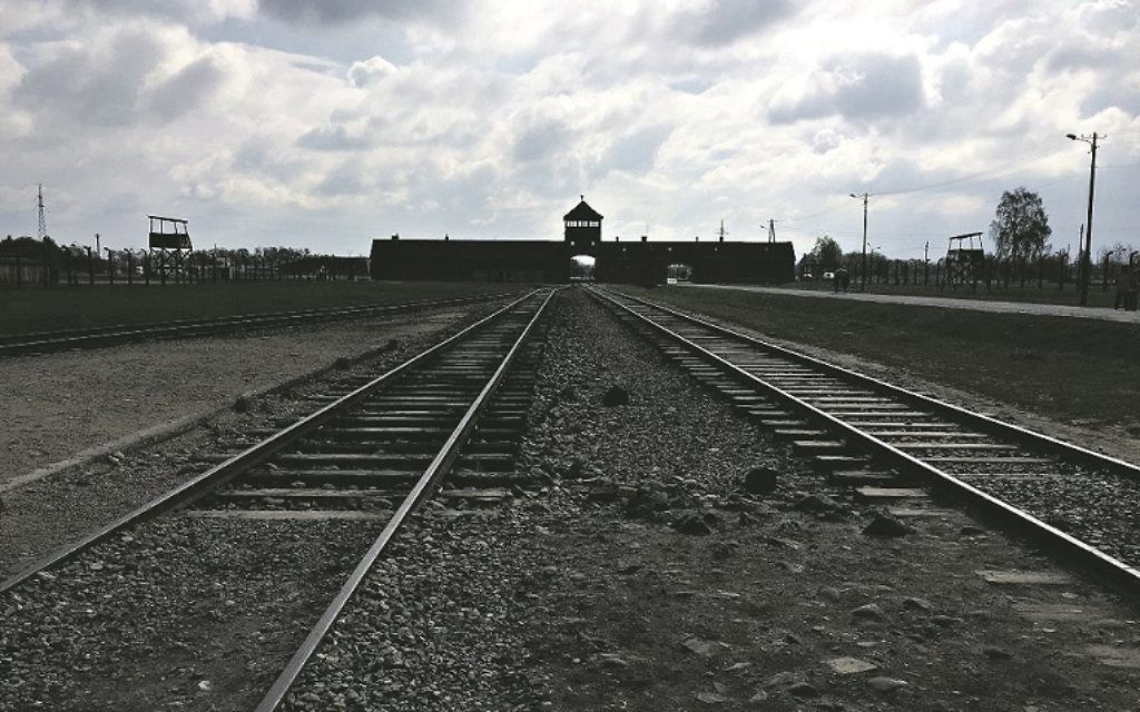 The railway tracks at Auschwitz-Birkenau, located in modern day Poland.