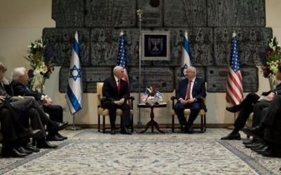 Mike Pence meeting with Israeli president Reuven Rivlin