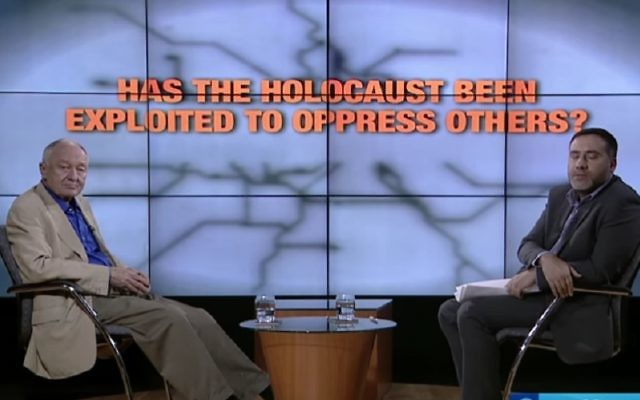 "Ken Livingstone appeared on Press TV's UK YouTube channel, where it was asked ""Has the Holocaust been exploited to oppress others?"""