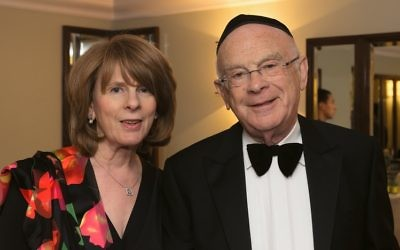 Eric Moonman with his wife, Gillian