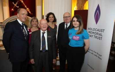 Speakers: The Lord Mayor, Laura Marks OBE, Ben Helfgott MBE, Olivia Marks-Woldman, Sir Eric Pickles and Hayley Carlyle (Lead Youth Champion)