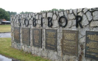 Memorial at the site of Sobibór extermination camp